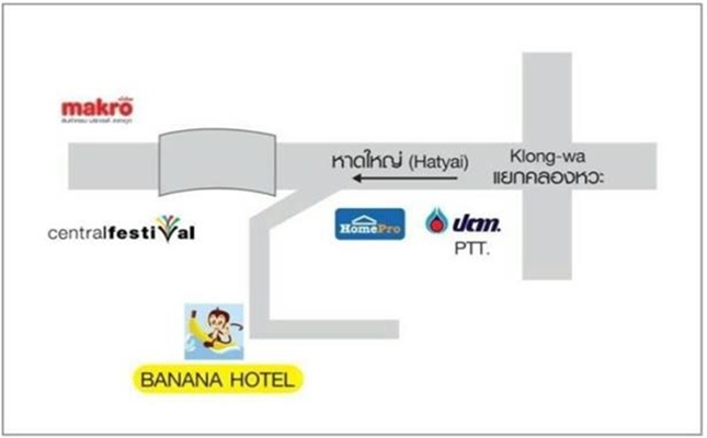 HATYAI BANANA Hotel-map